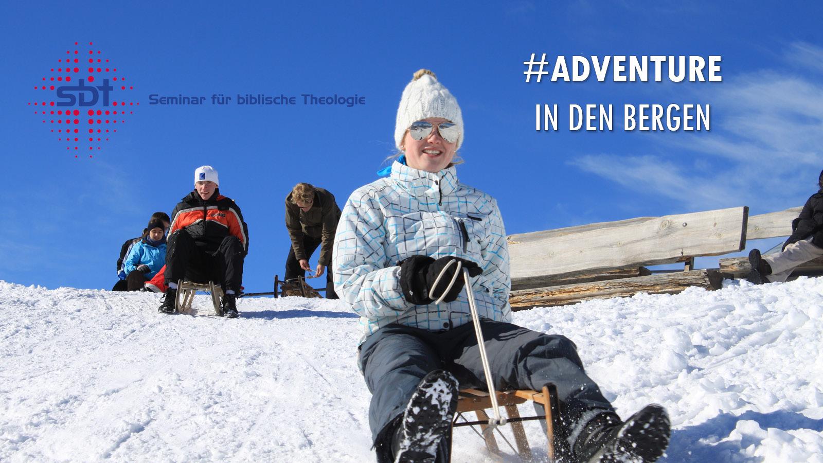 Berner Oberland - Adventure und Action - Schlittenfahrerin