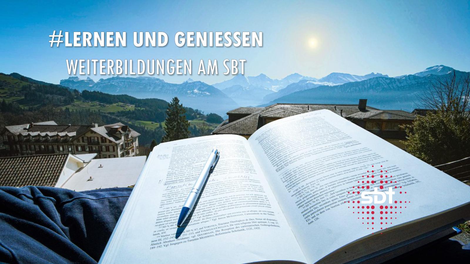 Buch mit Blick auf Eiger, Mönch und Jungfrau
