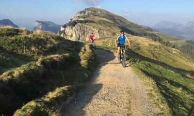 Mountainbike-Tour nach getaner Arbeit
