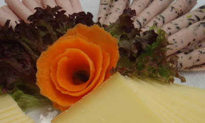Käse- und Fleischplatte